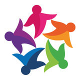 Logotipo colorido da comunidade ilustração do vetor