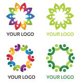 Logotipo colorido da comunidade fotos de stock royalty free