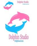 Logotipo colorido dos golfinhos Imagens de Stock