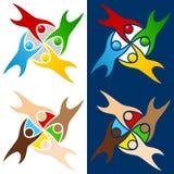 Logotipo colorido dos povos do mundo Fotos de Stock