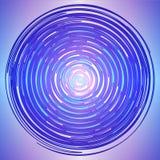 Logotipo colorido feito de linhas do círculo colorido Círculo mágico Painel solar e sinal para a energia alternativa Círculos das ilustração stock