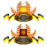 Logotipo colorido para cartão e cumprimentos com Oktoberfest Imagem de Stock