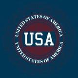 Logotipo común los E.E.U.U. del vector Fotos de archivo