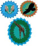 Logotipo com animais Foto de Stock Royalty Free