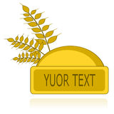 Logotipo com as orelhas de milho ou de café Fotos de Stock