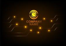 Logotipo com fundo abstrato da tecnologia Fotografia de Stock Royalty Free