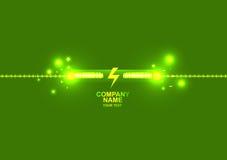 Logotipo com fundo abstrato verde da tecnologia Fotografia de Stock Royalty Free