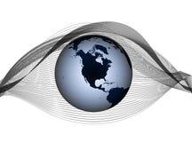 Logotipo com o planeta Fotografia de Stock