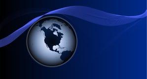 Logotipo com o planeta Fotos de Stock Royalty Free
