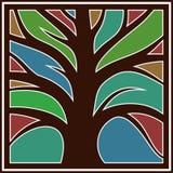 Logotipo com uma árvore Imagem de Stock