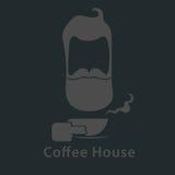 Logotipo con café Imagen de archivo