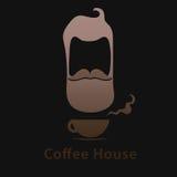 Logotipo con café Imágenes de archivo libres de regalías