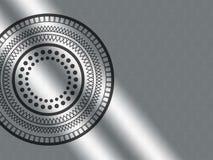 Logotipo con el fondo del metal Imágenes de archivo libres de regalías