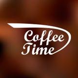 Logotipo con la inscripción del tiempo del café Fotos de archivo libres de regalías