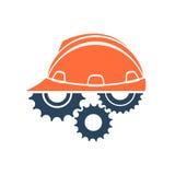 Logotipo conceptual da construção Imagens de Stock Royalty Free