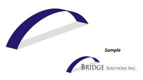 Logotipo - construindo uma ponte sobre a abertura Foto de Stock Royalty Free