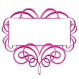 Logotipo cor-de-rosa decorativo do Flourish Imagens de Stock