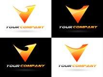 Logotipo corporativo de V stock de ilustración