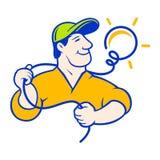 Logotipo corporativo del electricista Imagen de archivo libre de regalías