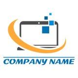 Logotipo creativo del ordenador ilustración del vector