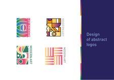 Logotipo creativo en el tema del arte moderno stock de ilustración
