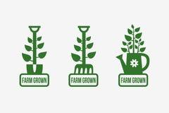 Logotipo crecido granja Foto de archivo