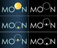 Logotipo crescente do negócio da lua abstrata da inscrição Fotos de Stock Royalty Free