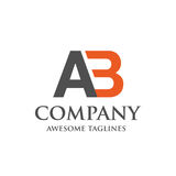 Logotipo criativo do AB da letra Imagem de Stock Royalty Free
