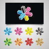 Logotipo cruzado 3D Foto de archivo
