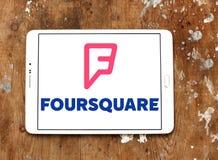 Logotipo cuadrado del app foto de archivo