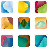 Logotipo cuadrado del diseño, plantilla del icono del vector Fotografía de archivo libre de regalías