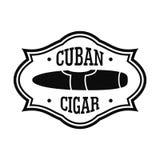 Logotipo cubano del cigarro de la nicotina, estilo simple ilustración del vector