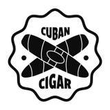 Logotipo cubano do charuto, estilo simples ilustração royalty free