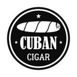 Logotipo cubano original do charuto, estilo simples ilustração royalty free