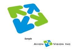 Logotipo - curso/turismo/companhia de Avaition Imagem de Stock
