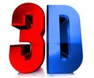 Logotipo 3D brilhante ilustração royalty free