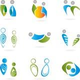 Logotipo, 3D, Menschen, Paar, Mann, Señora Imagen de archivo libre de regalías
