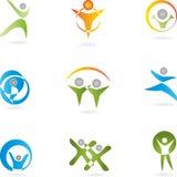 Logotipo, 3D, Menschen, Paar, Mann, Senhora Imagens de Stock Royalty Free