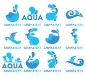 Logotipo da água Fotos de Stock