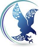 Logotipo da águia do circuito Foto de Stock