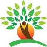 Logotipo da árvore ilustração stock