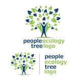 Logotipo 7 da árvore da ecologia dos povos Fotos de Stock Royalty Free