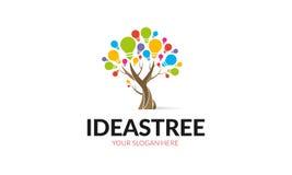 Logotipo da árvore das ideias ilustração do vetor