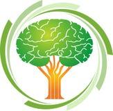 Logotipo da árvore do cérebro Imagens de Stock Royalty Free