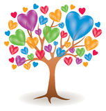 Logotipo da árvore do coração Fotos de Stock