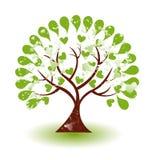 Logotipo da árvore do Grunge Foto de Stock