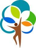 Logotipo da árvore do homem Fotos de Stock Royalty Free