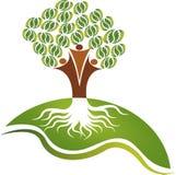 Logotipo da árvore dos pares Foto de Stock Royalty Free