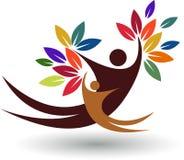 Logotipo da árvore dos pares Imagens de Stock Royalty Free