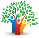 Logotipo da árvore dos povos Fotos de Stock
